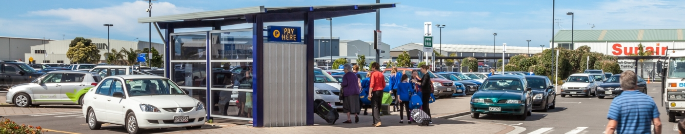People paying for carparking