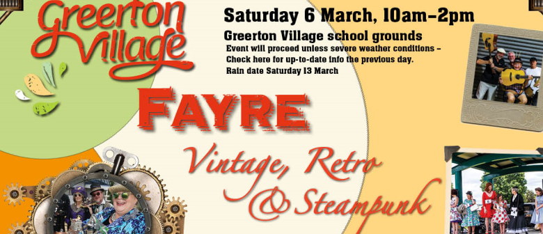 *POSTPONED - 13 MARCH 2021* Greerton Village Vintage, Retro & Steampunk Fayre