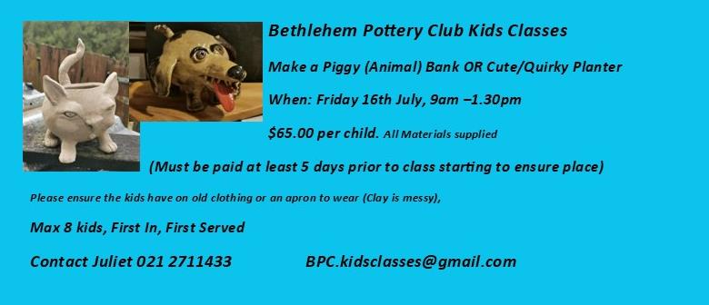School Holiday Kids Pottery Classes