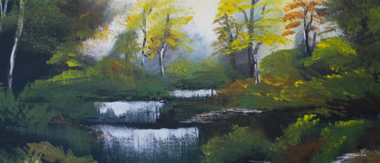 Paint and Wine Afternoon-Bob Ross Autumn Forest-Paintvine