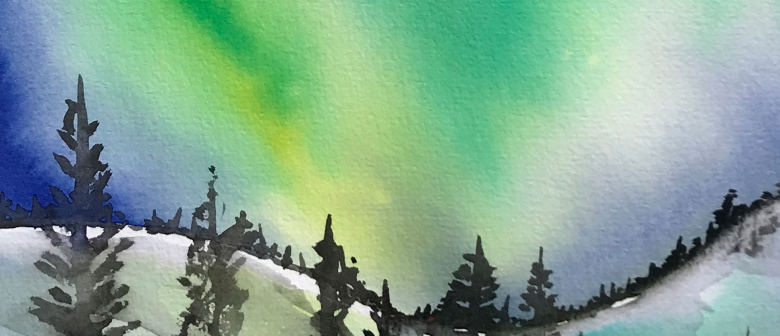 Watercolour and Wine-Northern Lights-Paintvine
