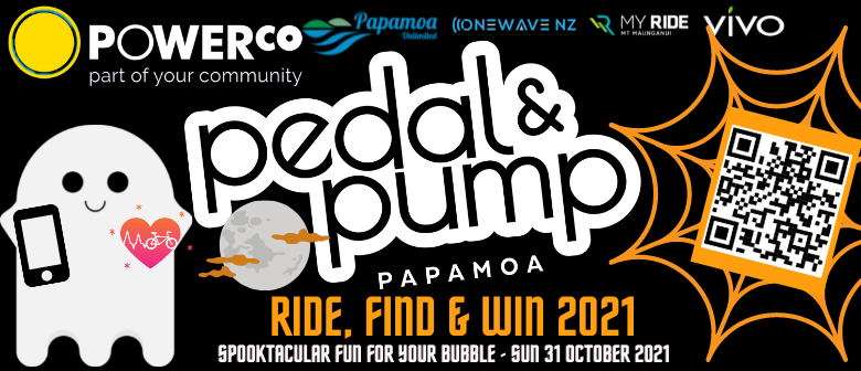 Powerco Pedal & Pump Papamoa - Ride, find & WIN Halloween 2021