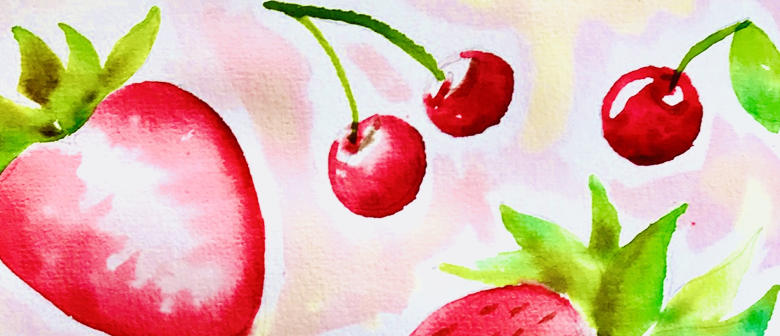 Watercolour and Wine-Summer Fruit-Paintvine