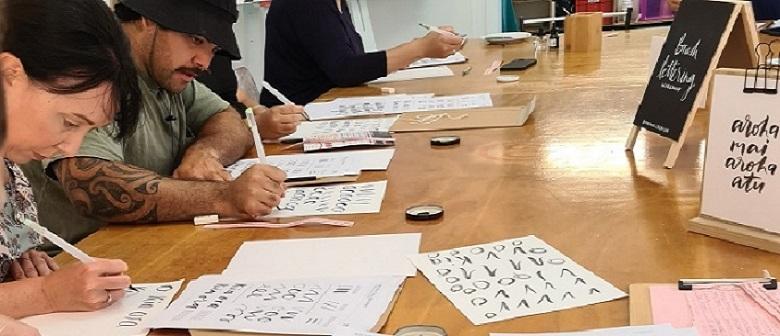 Brush Lettering Whakataukī  Workshop